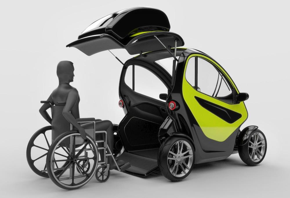 equal une voiture lectrique pour les personnes mobilit r duite. Black Bedroom Furniture Sets. Home Design Ideas