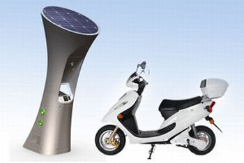 des bornes de recharge pour scooters lectriques rotterdam. Black Bedroom Furniture Sets. Home Design Ideas