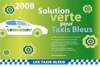 paris les taxis bleus deviennent verts. Black Bedroom Furniture Sets. Home Design Ideas