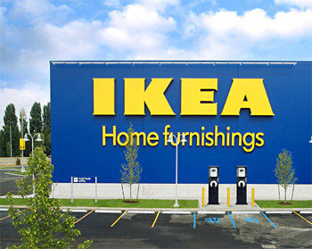 ikea veut installer des bornes de recharge dans ses magasins aux us. Black Bedroom Furniture Sets. Home Design Ideas