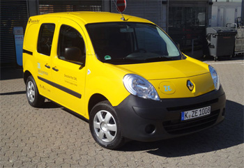 le renault kangoo lectrique test par la poste allemande. Black Bedroom Furniture Sets. Home Design Ideas