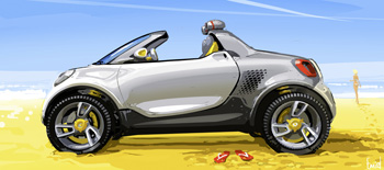 Smart pr�sentera le concept �lectrique smart-for-us � D�troit - Photo 1