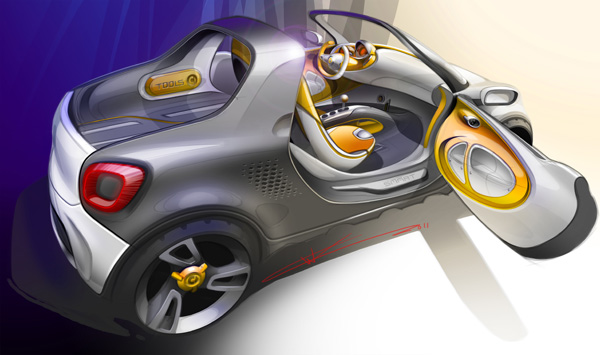 Smart pr�sentera le concept �lectrique smart-for-us � D�troit - Photo 2