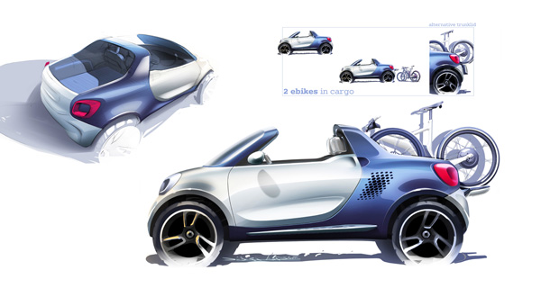 Smart pr�sentera le concept �lectrique smart-for-us � D�troit - Photo 3