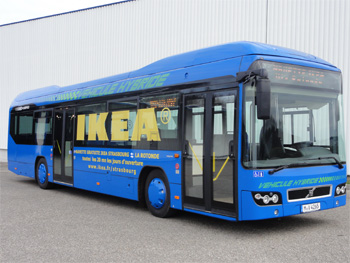un bus hybride volvo chez ikea strasbourg. Black Bedroom Furniture Sets. Home Design Ideas
