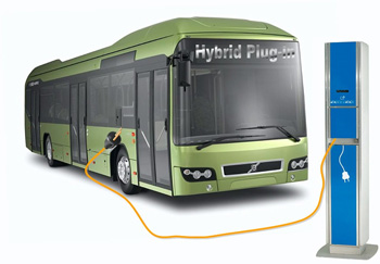 volvo se lance dans le bus hybride rechargeable. Black Bedroom Furniture Sets. Home Design Ideas