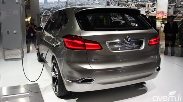mondial 2012 bmw active tourer concept le monospace hybride rechargeable. Black Bedroom Furniture Sets. Home Design Ideas