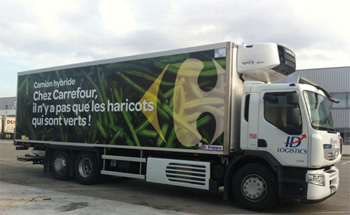 id logistics inaugure le premier camion hybride en r gion paca. Black Bedroom Furniture Sets. Home Design Ideas