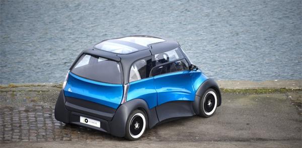 ecomove qbeak la voiture lectrique danoise. Black Bedroom Furniture Sets. Home Design Ideas