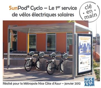 Advansolar vient d'inaugurer son premier service de vélos électriques solaires au coeur de l'Eco Vallée à Nice