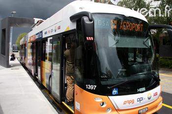 Elektrisk buss i Genève. Foto: avem.fr