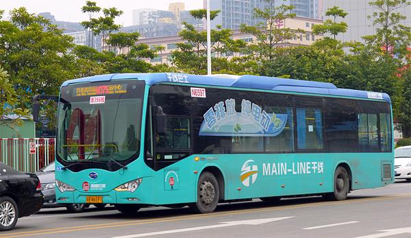 chine 2000 bus lectriques pour les villes de dalian et nanjing. Black Bedroom Furniture Sets. Home Design Ideas