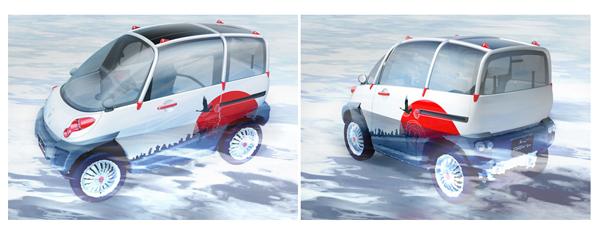 Mobil ini diklaim dapat mengapung pada saat disapu air bandang (Source: Avem.fr)