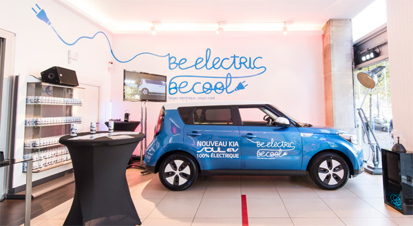 kia soul ev store un centre d essais lectrique au c ur de paris. Black Bedroom Furniture Sets. Home Design Ideas