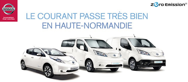 nissan l 39 utilitaire lectrique e nv200 ht en haute normandie. Black Bedroom Furniture Sets. Home Design Ideas