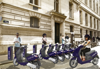 scootlib anne hidalgo d taille son projet de scooter lectrique en libre service pour paris. Black Bedroom Furniture Sets. Home Design Ideas