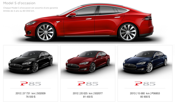webstore tesla la model s en occasion. Black Bedroom Furniture Sets. Home Design Ideas