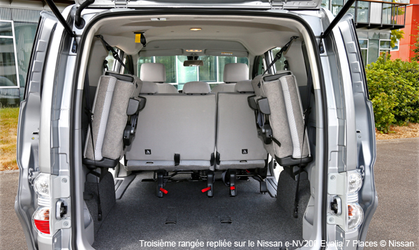 le nissan e nv200 evalia d sormais disponible avec 7 places. Black Bedroom Furniture Sets. Home Design Ideas