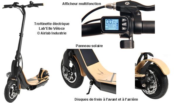 ... choix d équiper la trottinette d une roue de 10 pouces à l avant, et de  8 à l arrière. Doit-on préciser que Lab Elle Véloce est conforme à la norme  CE   ad854e0162c9