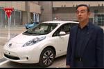 Nissan - Carlos Ghosn à bord d'une voiture électrique autonome