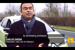 Voiture électrique autonomie - Carlos Ghosn au volant de la Zoé Next Two