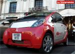 A bord de la voiture électrique i-MiEV