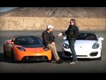 Tesla Roadster VS Porsche Boxster Spyder