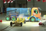 Volvo FE Hybrid - Simulation de collision sur le pack batteries