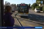 Bus électrique à l'essai du Conseil Général des Alpes Maritimes - Reportage FR3