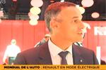 Renault Zoé ZE au Mondial de l'Auto - Interview d'Emmanuel Bouvier