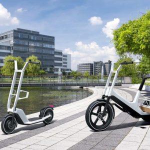 BMW présente 1 trottinette et 1 vélo cargo électriques